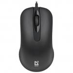 Мышь проводная Defender Classic MB-230 (Черный), USB 2кн, 1кл-кн, НОВИНКА!